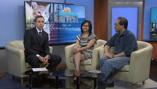 Talking up the Edmonton International Cat Fest on CV News at Noon!