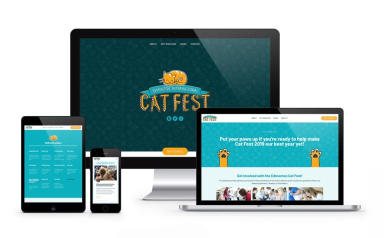 Cat Festival Website Mockup