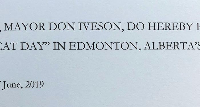 Edmonton Cat Festival City of Edmonton Cat Day Proclamation 5