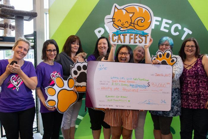 Cat Festival 2019 Cheque Presentation
