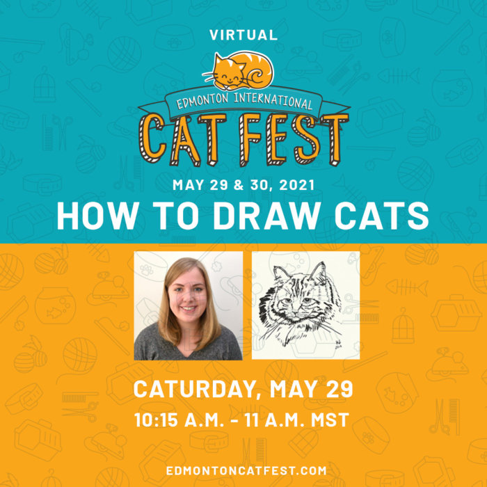 2021 Cat Fest Schedule How to Draw Cats